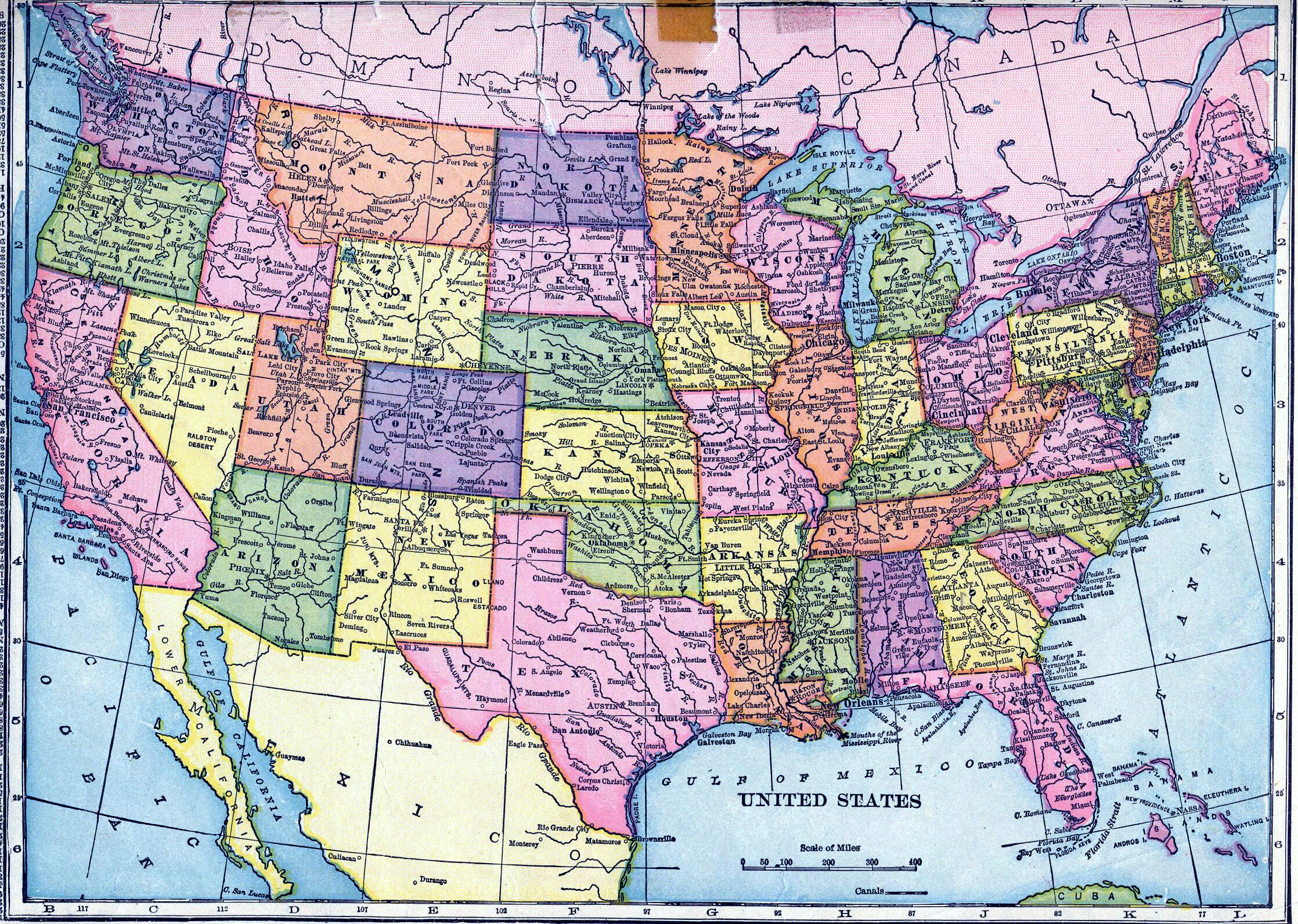 USA Map Print Out A Blank Map Of The US And Have The Kids Color - Map of us roads and cities